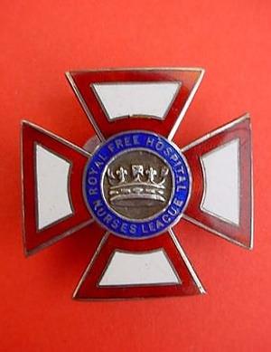 Royal Free Hospital Nurses League badge - Hampstead London